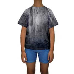GRUNGE METAL NIGHT Kid s Short Sleeve Swimwear