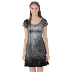 GRUNGE METAL NIGHT Short Sleeve Skater Dresses