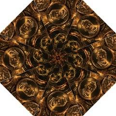 Gold Coins 2 Folding Umbrellas