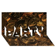 GOLD COINS 2 PARTY 3D Greeting Card (8x4)