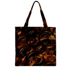 GOLD COINS 2 Zipper Grocery Tote Bags