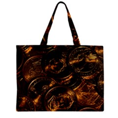 GOLD COINS 2 Zipper Tiny Tote Bags
