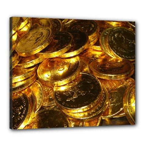 GOLD COINS 1 Canvas 24  x 20