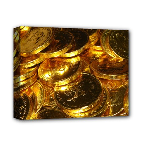 GOLD COINS 1 Deluxe Canvas 14  x 11