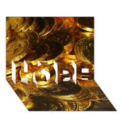 Gold Coins 1 Hope 3d Greeting Card (7x5)