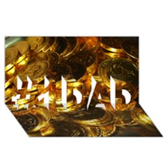 GOLD COINS 1 #1 DAD 3D Greeting Card (8x4)