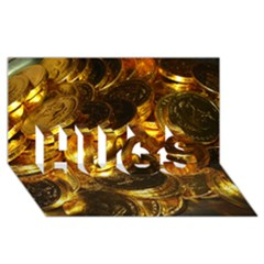 GOLD COINS 1 HUGS 3D Greeting Card (8x4)