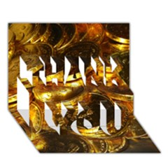 Gold Coins 1 Thank You 3d Greeting Card (7x5)