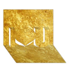 Gold I Love You 3d Greeting Card (7x5)