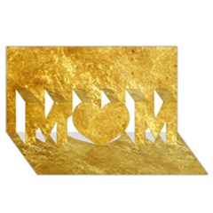 Gold Mom 3d Greeting Card (8x4)