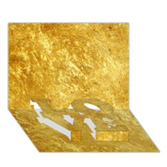 GOLD LOVE Bottom 3D Greeting Card (7x5)