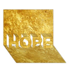 Gold Hope 3d Greeting Card (7x5)