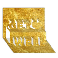 Gold Get Well 3d Greeting Card (7x5)