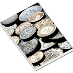 Foreign Coins Large Memo Pads