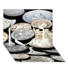 Foreign Coins I Love You 3d Greeting Card (7x5)