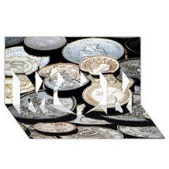 Foreign Coins Mom 3d Greeting Card (8x4)