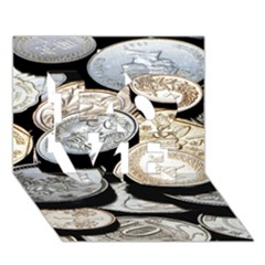 FOREIGN COINS LOVE 3D Greeting Card (7x5)