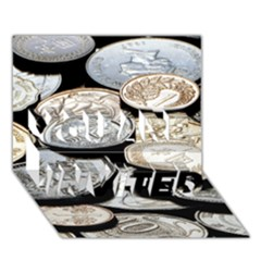 FOREIGN COINS YOU ARE INVITED 3D Greeting Card (7x5)