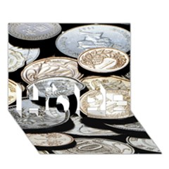 Foreign Coins Hope 3d Greeting Card (7x5)