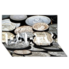 Foreign Coins Party 3d Greeting Card (8x4)
