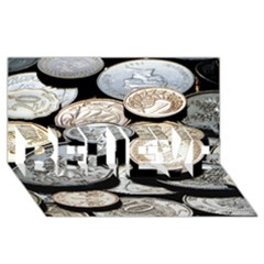FOREIGN COINS BELIEVE 3D Greeting Card (8x4)