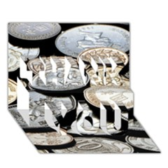 FOREIGN COINS THANK YOU 3D Greeting Card (7x5)