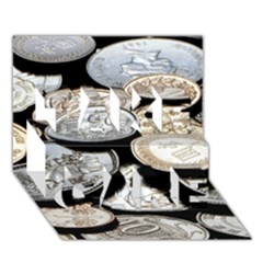 Foreign Coins Take Care 3d Greeting Card (7x5)