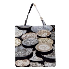 Foreign Coins Grocery Tote Bags