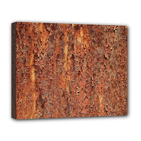 FLAKY RUSTING METAL Deluxe Canvas 20  x 16