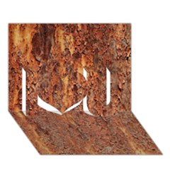 Flaky Rusting Metal I Love You 3d Greeting Card (7x5)