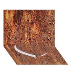 FLAKY RUSTING METAL Heart Bottom 3D Greeting Card (7x5)