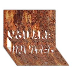 Flaky Rusting Metal You Are Invited 3d Greeting Card (7x5)