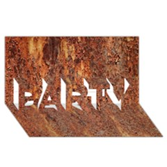 FLAKY RUSTING METAL PARTY 3D Greeting Card (8x4)