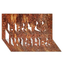 Flaky Rusting Metal Best Wish 3d Greeting Card (8x4)