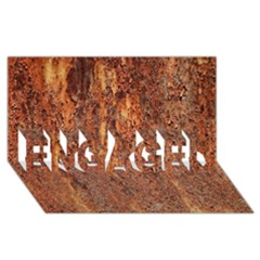 Flaky Rusting Metal Engaged 3d Greeting Card (8x4)