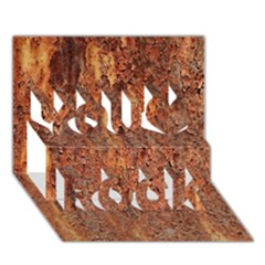 Flaky Rusting Metal You Rock 3d Greeting Card (7x5)