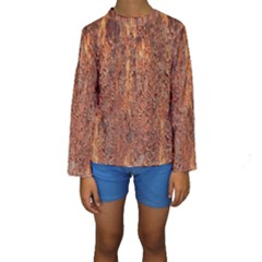 FLAKY RUSTING METAL Kid s Long Sleeve Swimwear