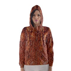 FLAKY RUSTING METAL Hooded Wind Breaker (Women)