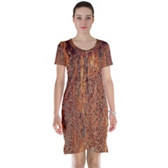 FLAKY RUSTING METAL Short Sleeve Nightdresses
