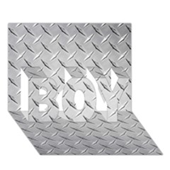 Diamond Plate Boy 3d Greeting Card (7x5)