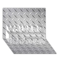 DIAMOND PLATE YOU ARE INVITED 3D Greeting Card (7x5)