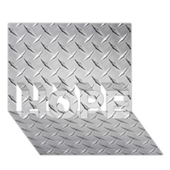 Diamond Plate Hope 3d Greeting Card (7x5)
