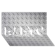 Diamond Plate Party 3d Greeting Card (8x4)