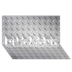 Diamond Plate Engaged 3d Greeting Card (8x4)