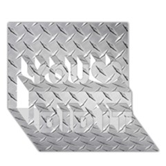 Diamond Plate You Did It 3d Greeting Card (7x5)
