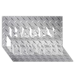 Diamond Plate Happy New Year 3d Greeting Card (8x4)