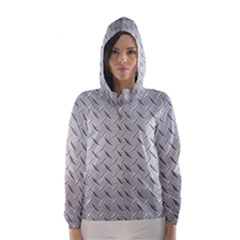 Diamond Plate Hooded Wind Breaker (women)