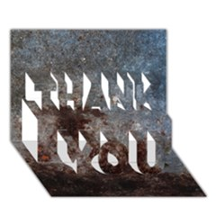 Corrosion 1 Thank You 3d Greeting Card (7x5)