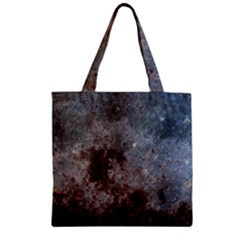 CORROSION 1 Zipper Grocery Tote Bags