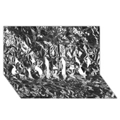Aluminum Foil Sorry 3d Greeting Card (8x4)